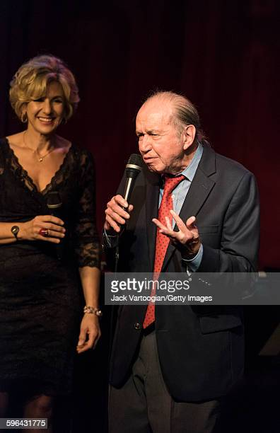 Vocalese Jazz singer Bob Dorough performs as a guest vocalist with the Royal Bopsters Project at Birdland Jazz club New York New York September 16...