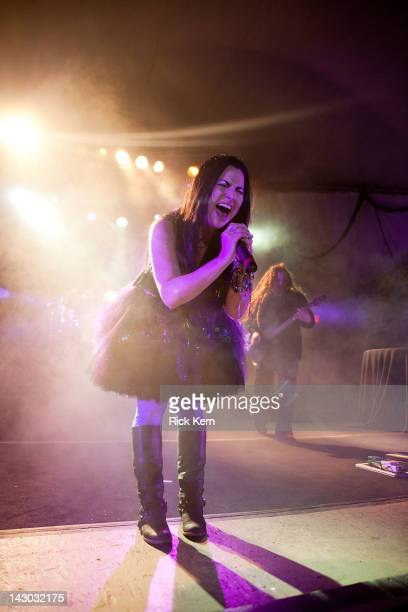 Vocalist Amy Lee of Evanescence performs at Stubb's BarBQ on April 17 2012 in Austin Texas