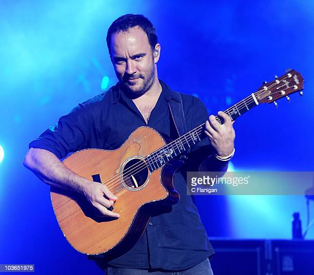 Vocalist and Guitarist Dave Matthews leads The Dave Matthews Band performing at Sleep Train Amphitheatre on August 25 2010 in Concord California