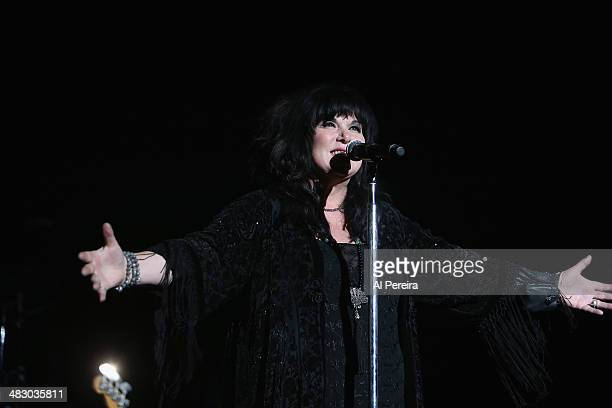 Vocalist Ann Willson of Heart performs at Bergen Performing Arts Center on April 5 2014 in Englewood New Jersey