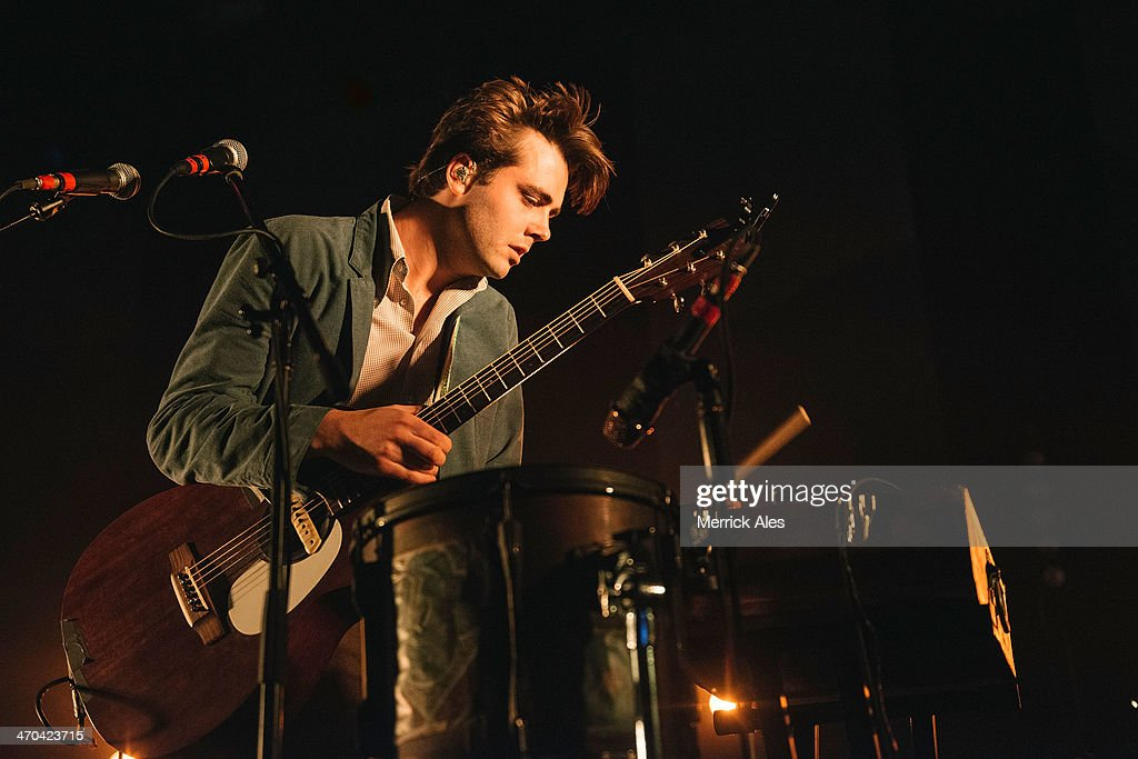 Vocalist Ben Schneider of Lord Huron perfoms at Emo's on February 18, 2014 in Austin, Texas.