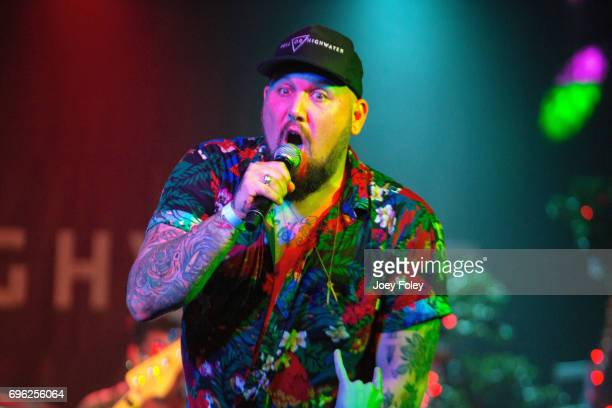 Vocalist Brandon Sallera of Hell or Highwater performs live onstage at The Emerson Theater on June 14 2017 in Indianapolis Indiana