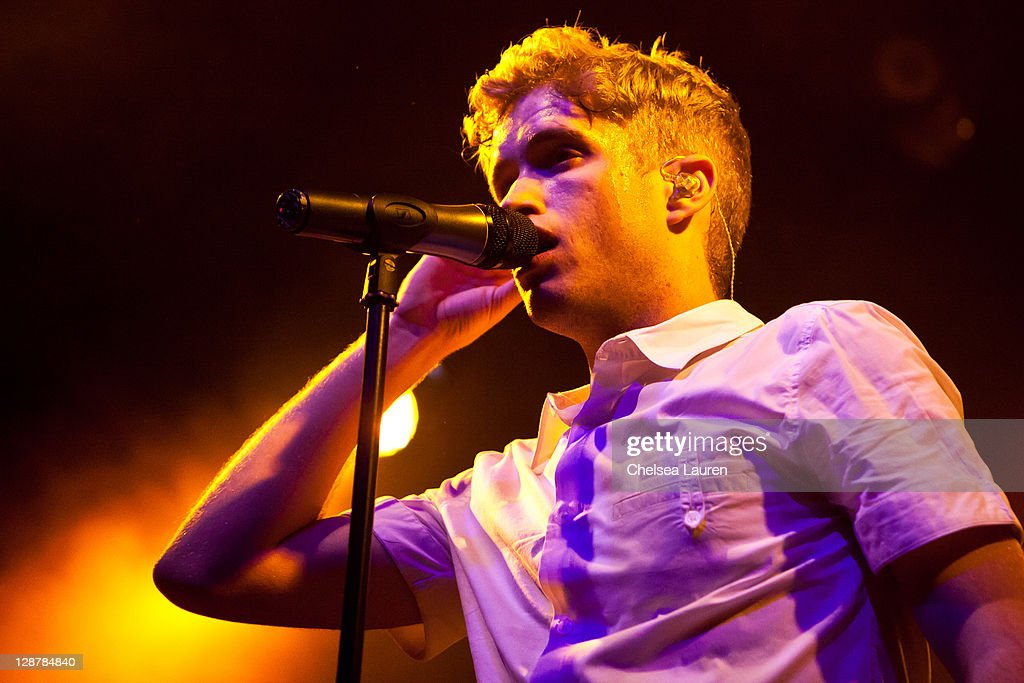 Vocalist Brian Dales of The Summer Set performs at El Rey Theatre on October 7, 2011 in Los Angeles, California.
