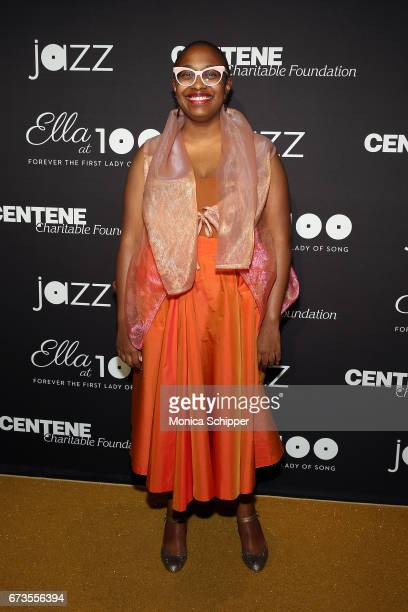 Vocalist Cecile McLorin Salvant attends the 2017 Jazz At Lincoln Center Gala Ella At 100 Forever The First Lady of Song at Frederick P Rose Hall Jazz...