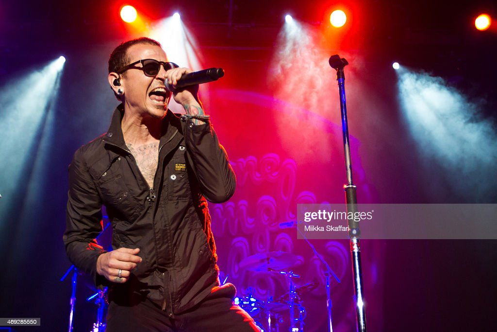 Vocalist Chester Bennington of Stone Temple Pilots performs at The Fillmore on April 10 2015 in San Francisco California
