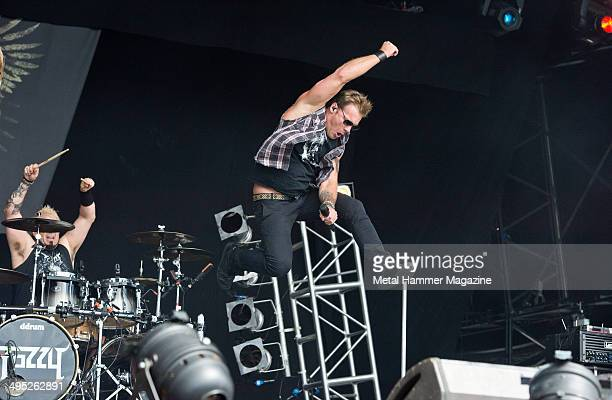 Vocalist Chris Jericho of American heavy metal group Fozzy performing live on stage at Bloodstock Open Air festival in Derbyshire England on August...
