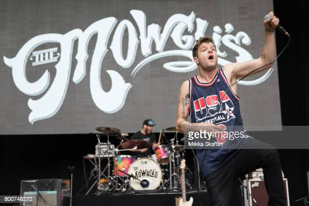 Vocalist Colin Louis Dieden and drummer Andy Warren of The Mowgli's perform at ID10T festival at Shoreline Amphitheatre on June 24 2017 in Mountain...