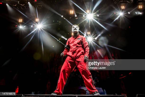Vocalist Corey Taylor of Slipknot performs at the Rockstar Energy Drink Mayhem Festival at San Manuel Amphitheater on June 30 2012 in San Bernardino...