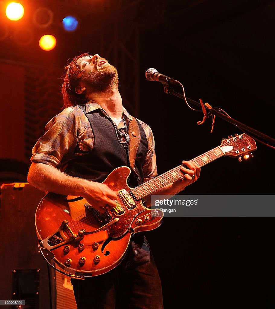 Vocalist Dan Auerbach of The Black Keys performs during day 2 of the Bonnaroo Music and Arts Festival at the Bonnaroo Festival Grounds on June 11, 2010 in Manchester, Tennessee.