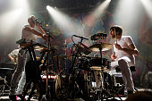 Vocalist Daniel Snaith and drummer Brad Weber of Caribou perform at Noise Pop Festival at The Fillmore on March 1 2015 in San Francisco California