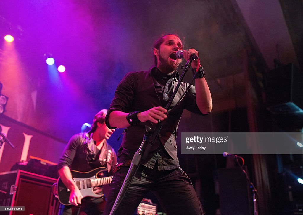 Vocalist Danilo Herbert of the rock band Mindflow performs onstage at the Murat Egyptian Room on January 20, 2013 in Indianapolis, Indiana.
