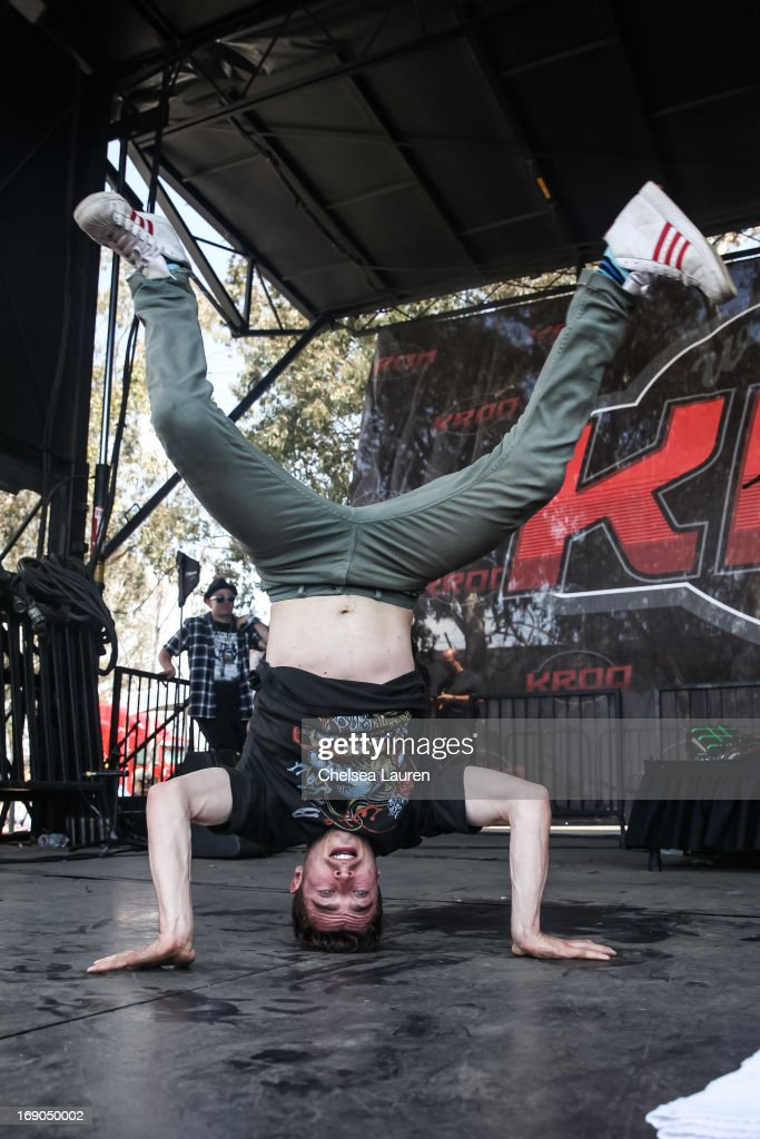Vocalist David Boyd of New Politics performs at the KROQ weenie roast y fiesta at the Verizon Wireless Amphitheater on May 18, 2013 in Irvine, California.