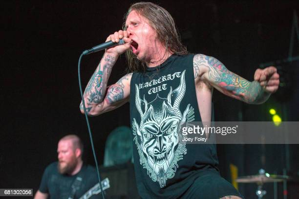 Vocalist David Kvistad of Deadships performs live onstage at The Emerson Theater on May 9 2017 in Indianapolis Indiana