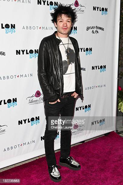 Vocalist Deryck Whibley of Sum 41 arrives at Kellan Lutz' celebration of his Nylon Magazine Guys cover at The BEVERLY on November 10 2011 in West...