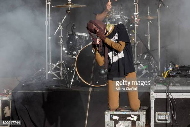 Vocalist Edith Frances of Crystal Castles performs at ID10T festival at at Shoreline Amphitheatre on June 25 2017 in Mountain View California