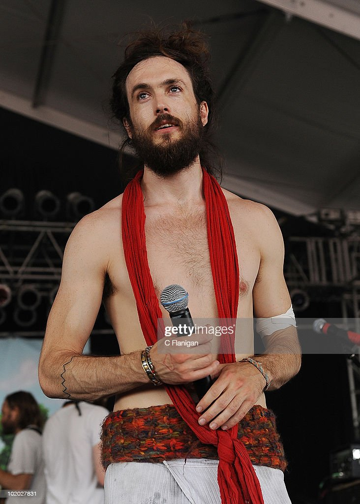 Vocalist Edward Sharpe performs during day 2 of the Bonnaroo Music and Arts Festival at the Bonnaroo Festival Grounds on June 11, 2010 in Manchester, Tennessee.