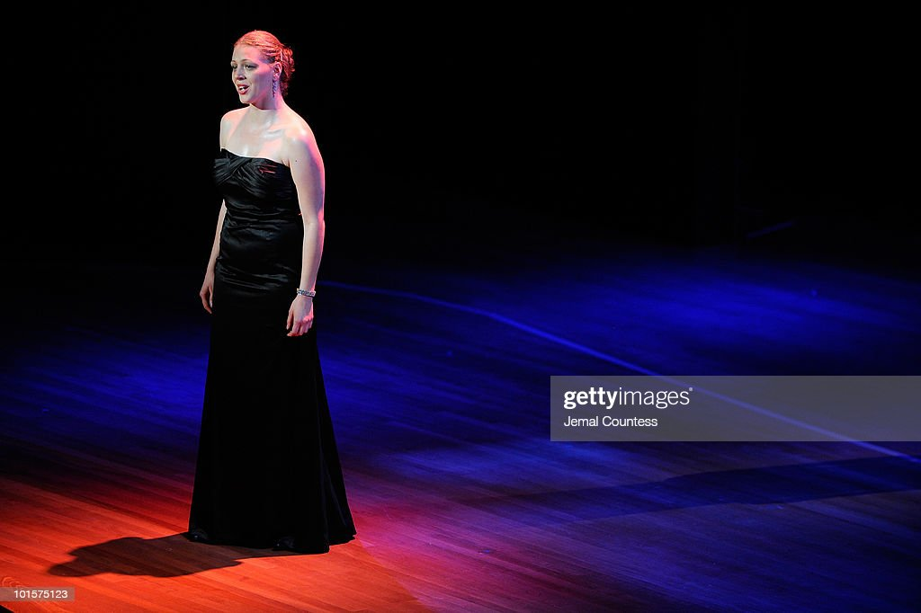 Vocalist Emalie Savoy performs during the 2010 World Science Festival Opening Night Gala at Alice Tully Hall, Lincoln Center on June 2, 2010 in New York City.