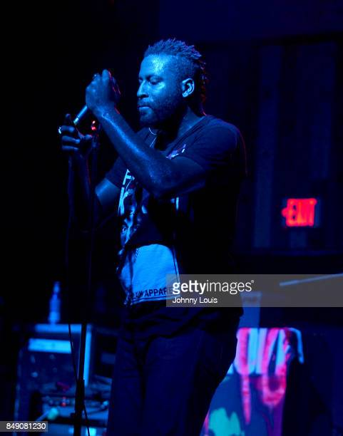Vocalist Eric July of Fire From Gods performs onstage during 'Soundboy Killaz Tour' at Revolution Live on September 17 2017 in Fort Lauderdale Florida