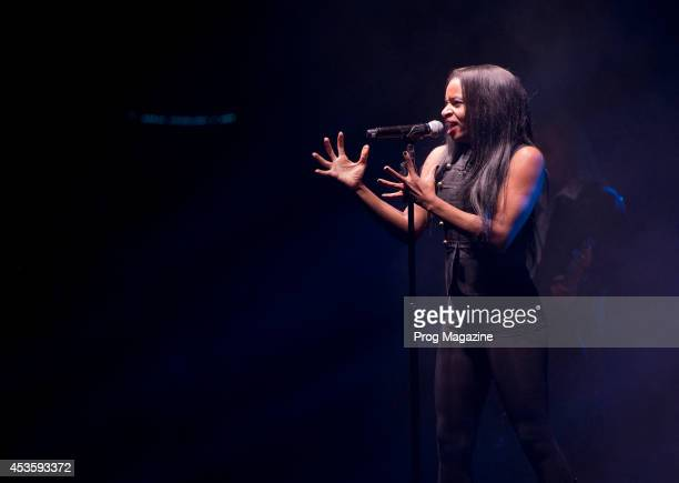 Vocalist Erika Jerry of American progressive rock group TransSiberian Orchestra performing live on stage at the Hammersmith Apollo in London on...