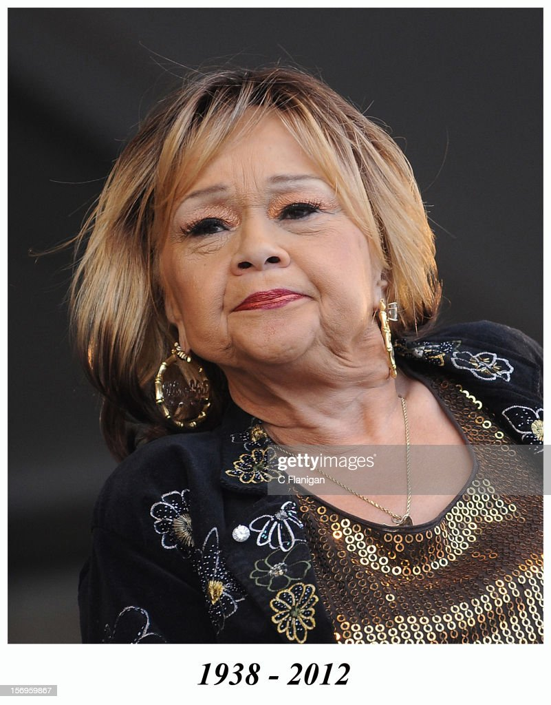 Vocalist Etta James performs during day 3 of the 2009 New Orleans Jazz & Heritage Festival Presented by Shell at the New Orleans Fairgrounds and Racetrack on April 26, 2009 in New Orleans, Louisiana. Etta James died in 2012.