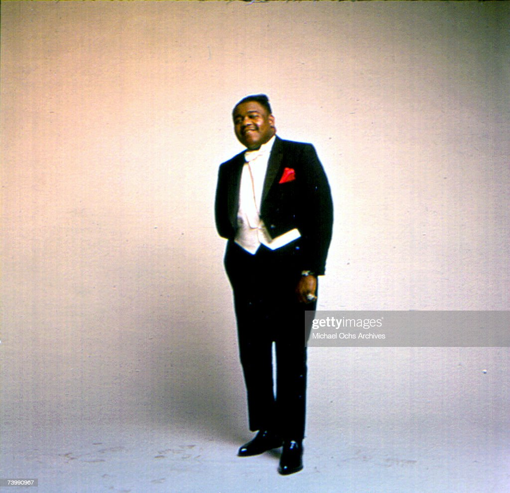 R&B vocalist Fats Domino poses for a portrait in circa 1955.