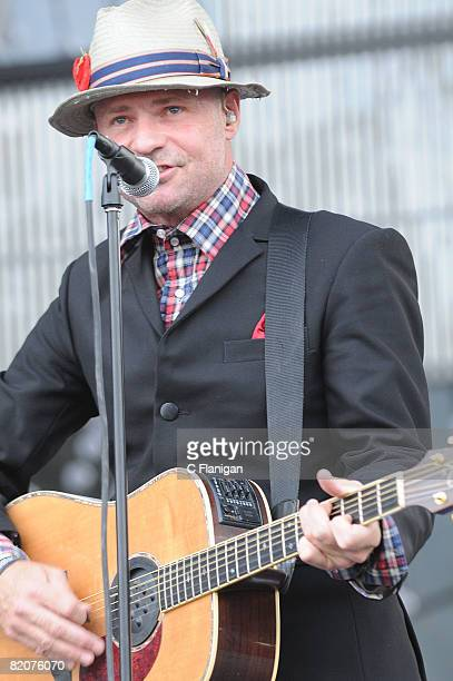 Vocalist Gordon Downie of The Tragically Hip performs on day two of the 2008 Pemberton Music Festival on July 26 2008 in Pemberton British Columbia...