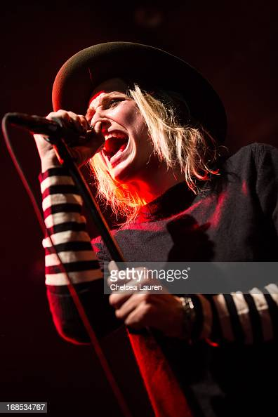 Vocalist / guitarist Emily Armstrong of Dead Sara performs at El Rey Theatre on May 9 2013 in Los Angeles California