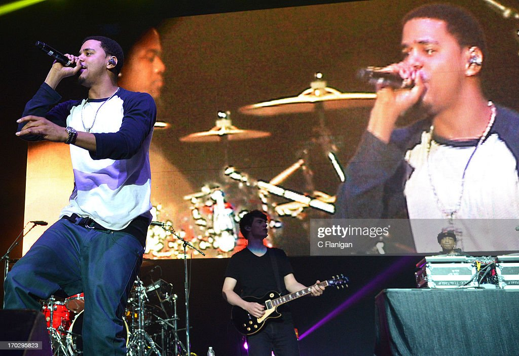 Vocalist J. Cole performs during the 2013 KMEL Summer Jam at ORACLE Arena on June 9, 2013 in Oakland, California.