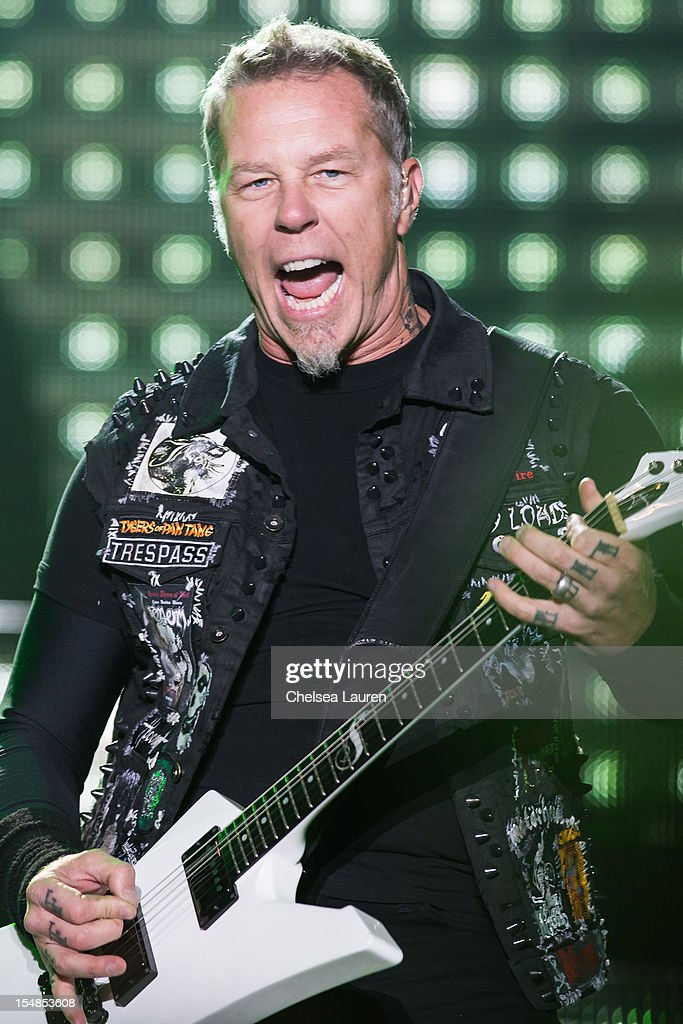 Vocalist James Hetfield of Metallica performs during the 2012 Voodoo Experience at City Park on October 27, 2012 in New Orleans, Louisiana.