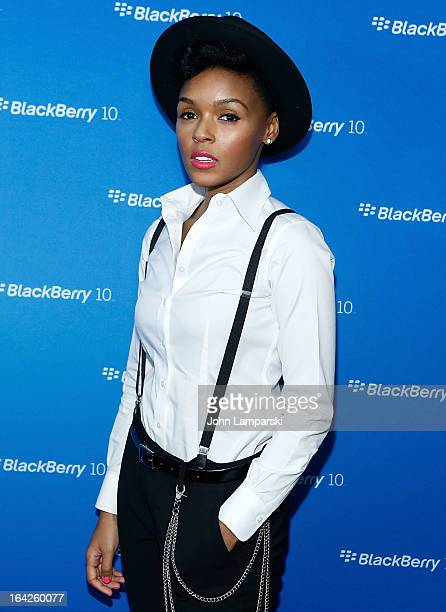 Vocalist Janelle Monae attends BlackBerry Z10 Launch Event at Best Buy Theater on March 21 2013 in New York City