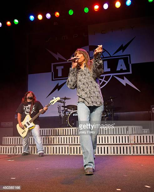 Vocalist Jeff Keith and Brian Wheat of Tesla performs live onstage at Egyptian Room at Old National Centre on May 30 2014 in Indianapolis Indiana