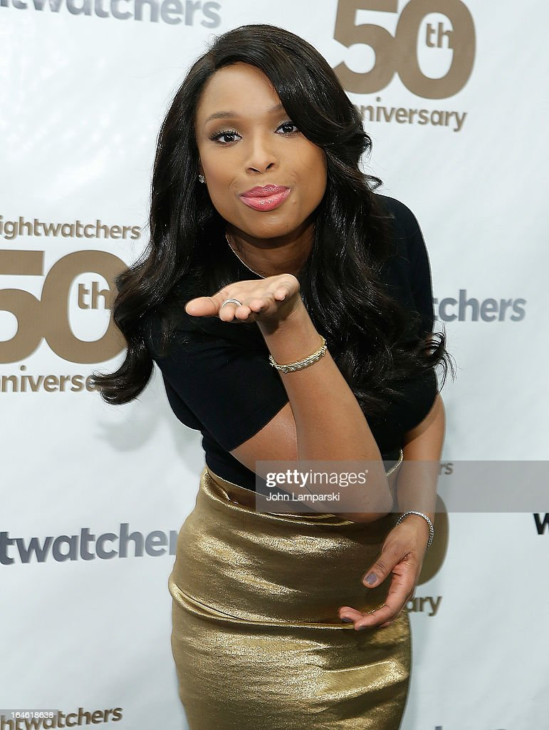 Vocalist <a gi-track='captionPersonalityLinkClicked' href=/galleries/search?phrase=Jennifer+Hudson&family=editorial&specificpeople=234833 ng-click='$event.stopPropagation()'>Jennifer Hudson</a> attends Weight Watchers Founder Celebration Day at the Weight Watchers Center NYC on March 25, 2013 in New York City.