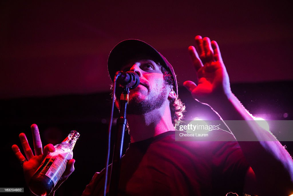 Vocalist Jesse Hasek of 10 Years performs at Key Club on March 5, 2013 in West Hollywood, California.