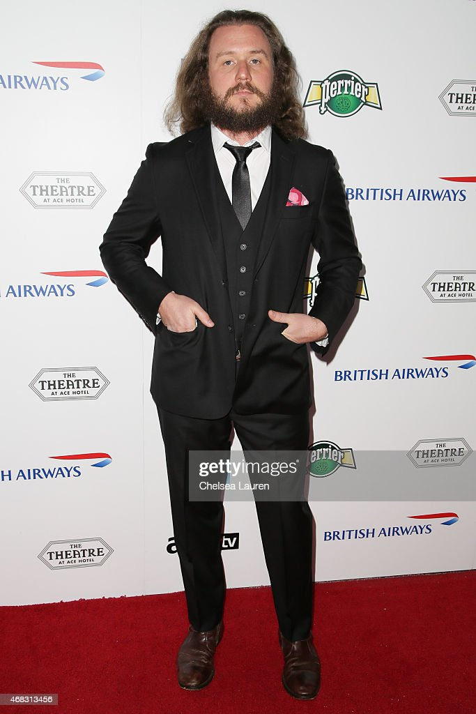 Vocalist Jim James of My Morning Jacket arrives at the 10th anniversary of the David Lynch Foundation at The Ace Hotel Theater on April 1, 2015 in Los Angeles, California.