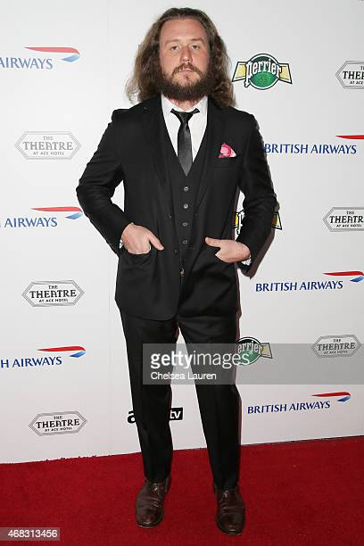 Vocalist Jim James of My Morning Jacket arrives at the 10th anniversary of the David Lynch Foundation at The Ace Hotel Theater on April 1 2015 in Los...
