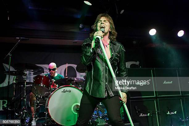 Vocalist Joey Tempest of Europe performs at Rockbar Theater on January 19 2016 in San Jose California