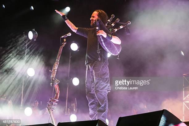 Vocalist Jonathan Davis of KoRn performs at the Rockstar Energy Mayhem Festival on July 5 2014 in San Bernardino California
