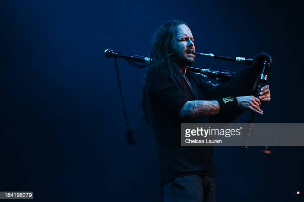 Vocalist Jonathan Davis of KoRn performs at The Wiltern on October 10 2013 in Los Angeles California