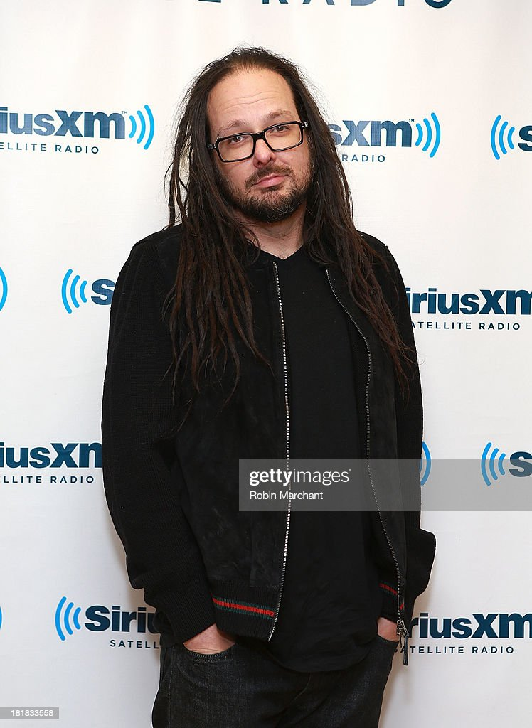 Vocalist <a gi-track='captionPersonalityLinkClicked' href=/galleries/search?phrase=Jonathan+Davis&family=editorial&specificpeople=221592 ng-click='$event.stopPropagation()'>Jonathan Davis</a> of Korn visits SiriusXM Studios on September 25, 2013 in New York City.
