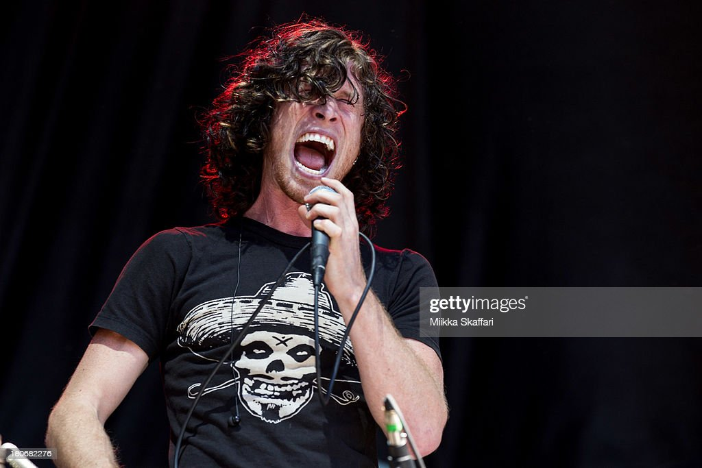 Vocalist Jonny Hawkins of Nothing More performs in Monster Energy's Aftershock Festival at Discovery Park on September 15 2013 in Sacramento...