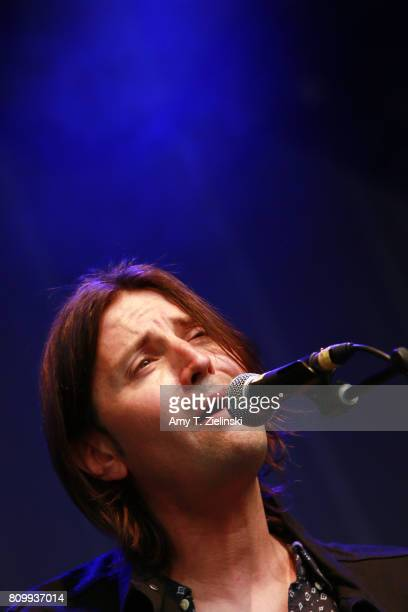 Vocalist Josh Lattanzi of the band The Candles performs during the opening act before Norah Jones headlines the 2017 Summer Series at Somerset House...