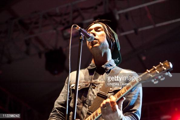 Vocalist Justin Warfield of She Wants Revenge performs at day 3 of the 2011 Coachella Valley Music Arts Festival at The Empire Polo Club on April 17...
