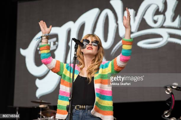 Vocalist Katie Jayne Earl of The Mowgli's performs at ID10T festival at Shoreline Amphitheatre on June 24 2017 in Mountain View California