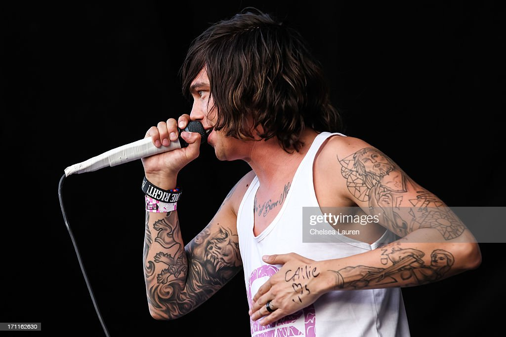 Vocalist Kellin Quinn of Sleeping With Sirens performs at the Vans Warped Tour on June 15, 2013 in Seattle, Washington.