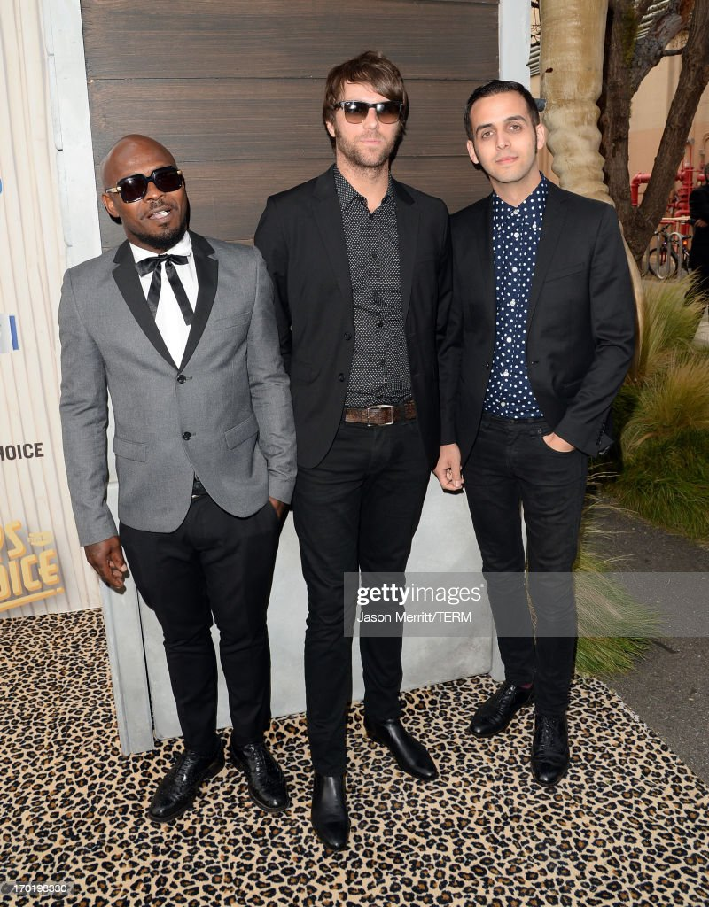 Vocalist Kelvin Swaby, bassist Spencer Page, and drummer Chris Ellul of The Heavy attend Spike TV's Guys Choice 2013 at Sony Pictures Studios on June 8, 2013 in Culver City, California.