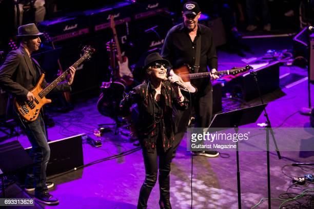 Vocalist Lulu performing live on stage as part of the 'Evening For Jack Bruce' tribute concert at the O2 Shepherd's Bush Empire in London on October...