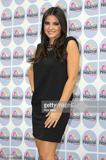 Vocalist Maite Perroni poses backstage during Festival People en Español Presented by Target at The Alamodome on August 31 2013 in San Antonio Texas