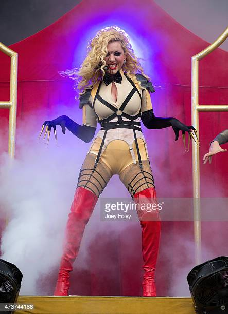 Vocalist Maria Brink of In This Moment performs live onstage at MAPFRE Stadium on May 16 2015 in Columbus Ohio
