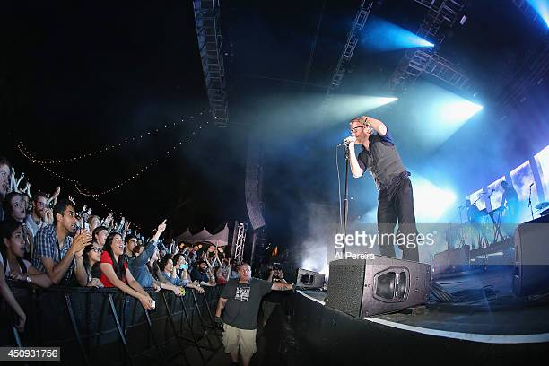 Vocalist Matt Berninger and the National perform to a huge crowd on the third night of benefit performances during 2014 Celebrate Brooklyn at the...