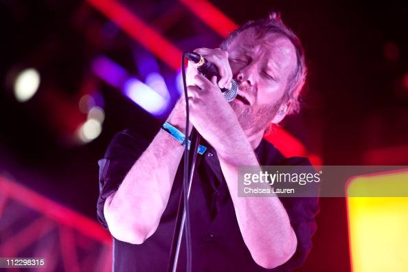 Vocalist Matt Berninger of The National performs at day 3 of the 2011 Coachella Valley Music Arts Festival at The Empire Polo Club on April 17 2011...